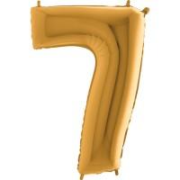 GRABO - Rakam Balon 7 Rakamı Gold - 100 cm