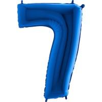 Parti Yıldızı - Rakam Balon 7 Rakamı Mavi - 100 cm