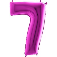 Parti Yıldızı - Rakam Balon 7 Rakamı Pembe - 100 cm