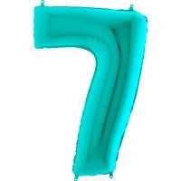 GRABO - Rakam Balon 7 Rakamı Tiffany - 100 cm