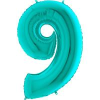 GRABO - Rakam Balon 9 Rakamı Tiffany - 100 cm