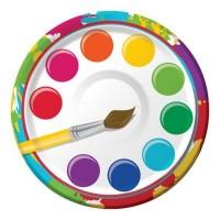 Parti Yıldızı - Renkli Boyama Partisi 8 li Küçük Tabak