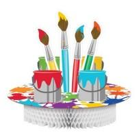 Parti Yıldızı - Renkli Boyama Partisi Masa Orta Süsü
