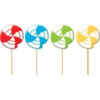 Parti Yıldızı - Renkli Lolipoplar 4 Lü Mum