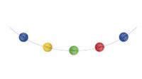 Parti Yıldızı - Renkli Ponpon Garlent 3,35 metre