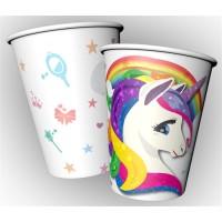 BALONEVI - Renkli Unicorn Kağıt Bardak