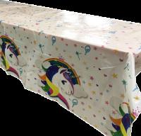 Balonevi - Renkli Unicorn Masa Örtüsü 120x180