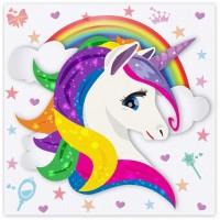 Balonevi - Renkli Unicorn Peçete