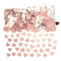 AMSCAN - Rose Gold Kalp Şekilli Masa Üzeri Konfetisi