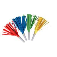 AMSCAN - Saçaklı Renki Düdük 4 Adet