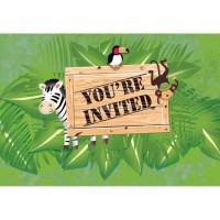 Parti Yıldızı - Safari Macerası 8 li Davetiye