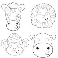 Parti Yıldızı - Safari Macerası Aktiviteli Maske 12 Adet
