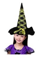 Parti Yıldızı - Sarı Kurdeleli Cadı Şapkası