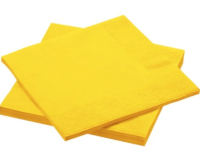 AMSCAN - Sarı Renk Peçete 33x33cm