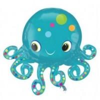 Parti Yıldızı - Sevimli Ahtapot SuperShape Balon