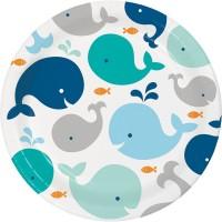 Parti Yıldızı - Sevimli Balina Mavi 8 li Tabak