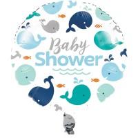 Parti Yıldızı - Sevimli Balina Mavi Folyo Balon