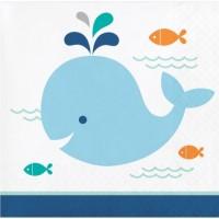 Parti Yıldızı - Sevimli Balina Mavi Küçük Peçete 16 Adet
