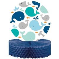 Parti Yıldızı - Sevimli Balina Mavi Masa Orta Süsü