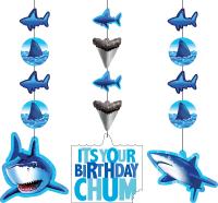 Parti Yıldızı - Sevimli Köpek Balığı 3 lü asma süs
