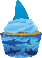 Parti Yıldızı - Sevimli Köpek Balığı Cup Cake Kılıfı