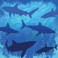 Parti Yıldızı - Sevimli Köpek Balığı Masa Örtüsü
