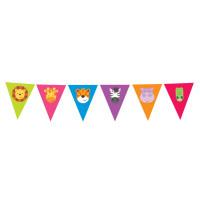 AMSCAN - Sevimli Safari Partisi Bayrak Afiş