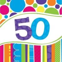 Parti Yıldızı - Şık Çemberler 50 Yaş Peçete