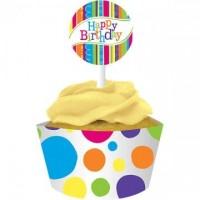 Parti Yıldızı - Şık Çemberler Cup Cake Kılıfı 12 Adet