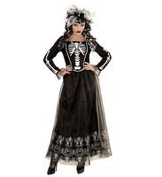 Parti Yıldızı - Şık İskelet Yetişkin Kadın Kostümü - S Beden