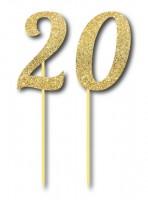 Parti Yıldızı - Simli Altın Renk 20 Yaş