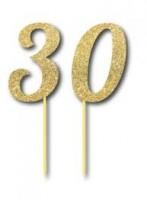 Parti Yıldızı - Simli Altın Renk 30 Yaş
