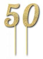 Parti Yıldızı - Simli Altın Renk 50 Yaş