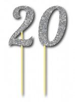 Parti Yıldızı - Simli Gümüş Renk 20 Yaş