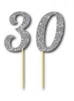 Parti Yıldızı - Simli Gümüş Renk 30 Yaş