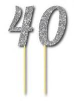 Parti Yıldızı - Simli Gümüş Renk 40 Yaş