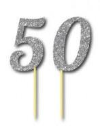 Parti Yıldızı - Simli Gümüş Renk 50 Yaş