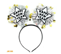 Parti Yıldızı - Simli Happy New Year Taç