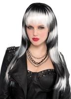 Parti Yıldızı - Siyah Beyaz Cadı Peruğu
