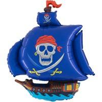 Parti Yıldızı - Siyah Mavi Korsan Gemisi 28