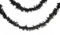 Parti Yıldızı - Siyah Pelür 7,65 mt. Uzunluğunda Asma Süs/Garlent