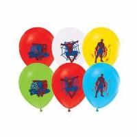 Parti Yıldızı - Spiderman Paketli Latex Balon 6 Adet
