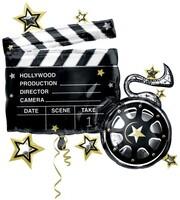 Anagram - Sshape Hollywood Film Klaketi Folyo Balon 76x73cm