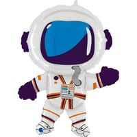 Parti Yıldızı - Sshape Astronot Folyo Balon 36