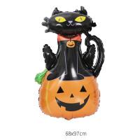GRABO - Sshape Balkabaklı Kedi Şekilli Folyo Balon 90 cm