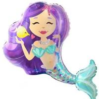 Parti Yıldızı - SShape Deniz Kızı Folyo Balon