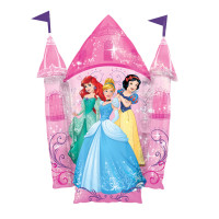 Parti Yıldızı - SShape Disney Prensesleri Şatosu Folyo Balon 66x88