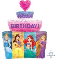 Parti Yıldızı - SShape Disney Prensesleri Pasta Balon 53x71cm