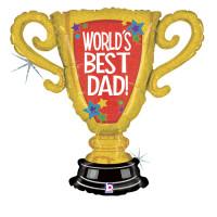 GRABO - Sshape Dünyanın En iyi Babası Ödülü Folyo Balon 84cm