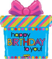Parti Yıldızı - SShape Hediye Paketi Happy Birthday Balon 69cm